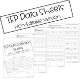 IEP Data Collection Sheets (Non-Editable)