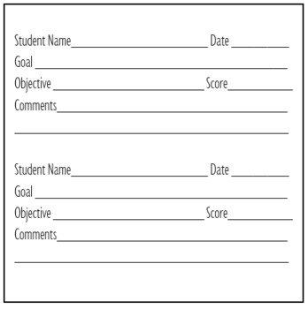 IEP Data Collection Sticky Note Template