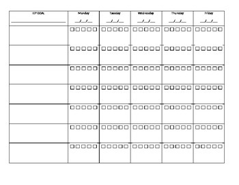 IEP Data Collection Template