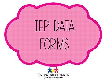 IEP Data Collection Forms