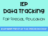 IEP Data Goal Tracking For Special Education
