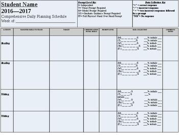IEP Data Recording Sheet