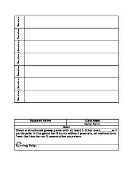 IEP Data Sheets - Math, Behavior, Social Skills, Work Habits - Editable