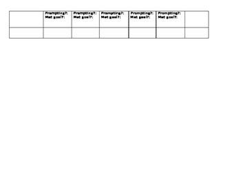 IEP Data Tracking Sheet