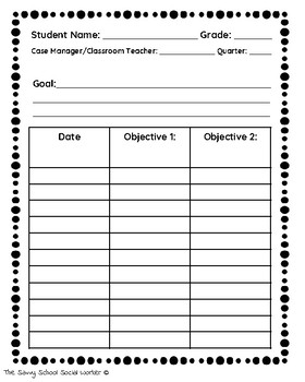 IEP Data Tracking Sheets