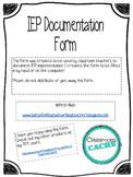 IEP Documentation