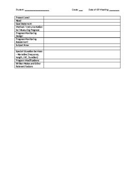 IEP Draft Template