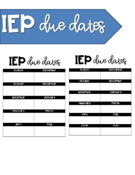 IEP Due Dates