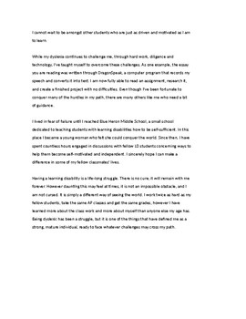 IEP Essay - Fulfilling a Vow to Myself