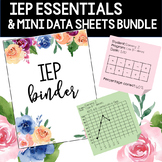 IEP Essentials and Mini Data Sheets BUNDLE