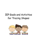 IEP Fine Motor Goals and Activities for Tracing Shapes