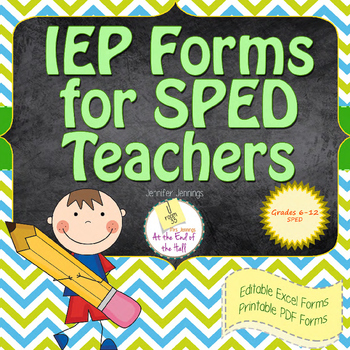 IEP Forms for Organization