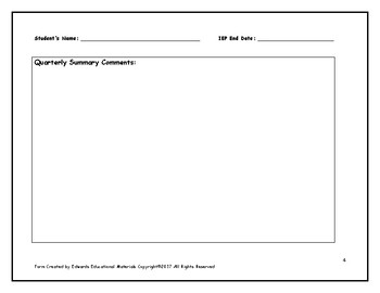 IEP Functional Skills Data Collection Form