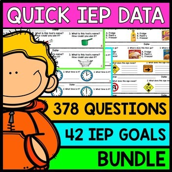 IEP Goal Assessments - PRINT & GO - Special Education - Li