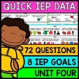 IEP Goal Assessments - PRINT & GO - Special Education - Life Skills - Unit 4