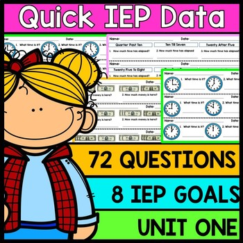 IEP Goal Assessments - PRINT & GO - Special Education - Life Skills - Unit 1