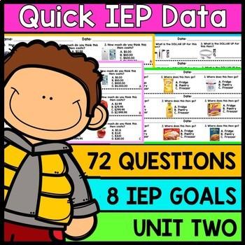 IEP Goal Assessments - PRINT & GO - Special Education - Life Skills -  Unit 2