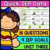 IEP Goal Assessments - PRINT & GO - Special Education - Life Skills - Unit 3