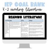IEP Goal Bank: K-2 Reading Literature | Common Core Aligned