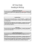 IEP Goal Bank-Reading and Writing