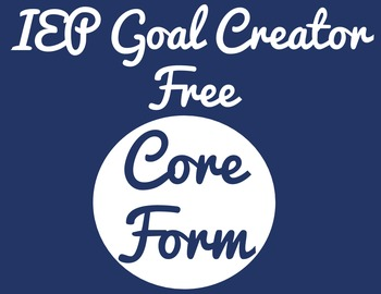 IEP Goal Creator - Free