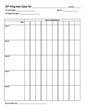 IEP Goal Data Sheet (Editable)