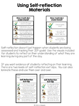 IEP Goal Data Tracking and Self-Reflection Kit for Special Education