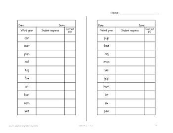 IEP Goal Monitoring Assessments: Phonemic Awareness-Sound Segmentation/Blending