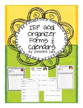IEP Goal Organizer Forms & Calendars