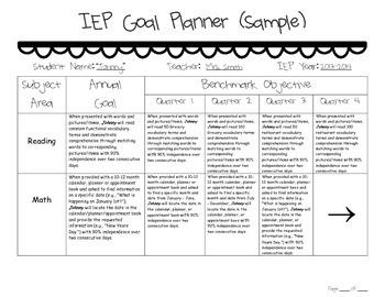 IEP Goal Planner (FREEBIE)