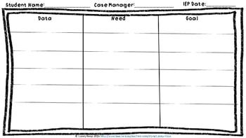 IEP Goal Planning