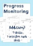 IEP Goal Progress Monitoring: Addition
