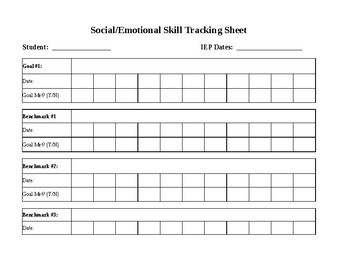 IEP Goal Progress Monitoring Form
