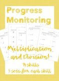 IEP Goal Progress Monitoring: Multiplication and Division