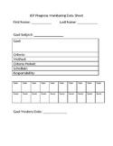 IEP Goal Progress Monitoring Sheet