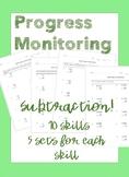 IEP Goal Progress Monitoring: Subtraction