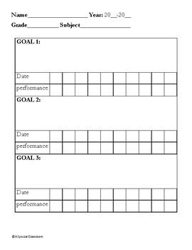 IEP Goal Progress Packet