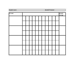 IEP Goal Progress Recording Sheet