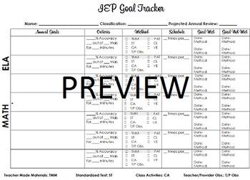 IEP Goal Progress Tracker