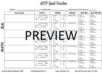 IEP Goal Progress Tracker
