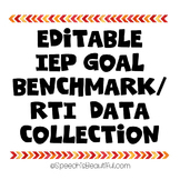 IEP Goal / RTI Benchmark Data Collection for SLP, Social W