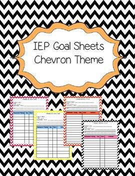 IEP Goal Sheets in Chevron