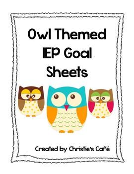 Owl IEP Goal Sheets