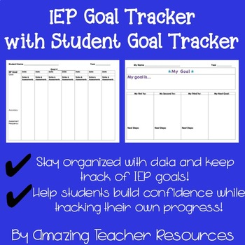 IEP Goal Tracker with Student Goal Tracker