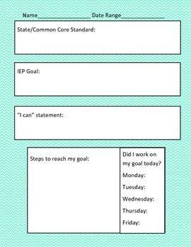IEP Goal Tracking