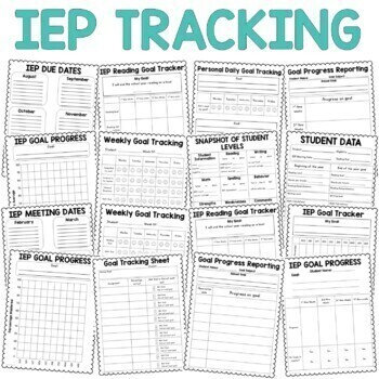 IEP Goal Tracking Binder