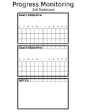 IEP Goal Tracking/ Progress Monitoring (editable)