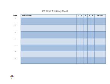 SPED IEP Goal Progress Monitoring (EDITABLE)