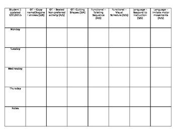 IEP Goal Tracking Sheet - Editable