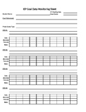 IEP Goal Tracking Sheet Simple